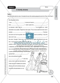 Text work: A family drama. Worksheet and solution Preview 2