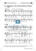 Der persisiche Markt - Arbeitsblätter mit Notenfassungen und Aufgaben zur musikalischen Darstellung der Markttreibenden. Preview 1