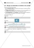 Dur und Moll - Arbeitsblätter mit Gehör- und Schreibübungen zur Unterscheidung von Dur- und Molltonleitern und Lösungen Preview 2