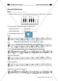 Musiktest mit Aufgaben zum Thema Tonleitern, Tonarten und Tongeschlechtern und Lösungen Preview 2