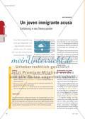 Un joven inmigrante acusa - Einführung in das Thema opinión Preview 1