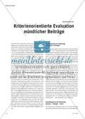 Kriterienorientierte Evaluation mündlicher Beiträge Preview 1