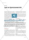 Lyrik im Spanischunterricht Preview 1