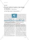 """""""Es tan corto el amor y tan largo el olvido"""" - Das Thema """"Amor y desamor"""" im Spanischunterricht Preview 1"""