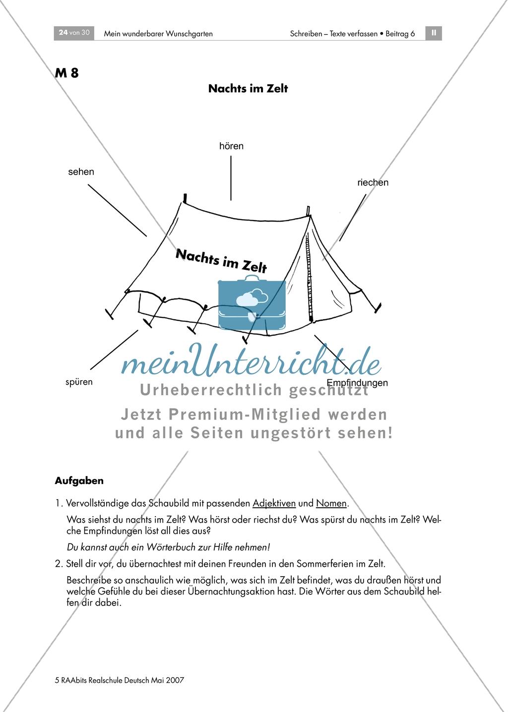 Plätze und Orte beschreiben: Nachts im Zelt Preview 1