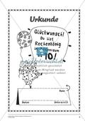 Gemischte Aufgaben im Zahlenraum bis 10 - Urkunde des Rechenkönigs Preview 1