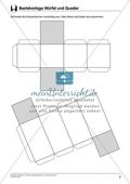 Mathematik_neu, Sekundarstufe I, Raum und Form, Geometrische Objekte, körper und ihre eigenschaften, körpernetze (s1), würfel und quader (s1/ körper und ihre eigenschaften, kör-pernetze)