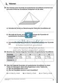 Körperberechnung - Volumen einer Pyramide Preview 1