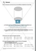 Körperberechnung - Volumen des Zylinders Preview 1