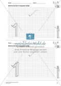Geometrisches Zeichnen - Verdoppelung der Größe vorgegebener Zahlen bis 5 Preview 2