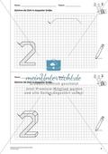 Geometrisches Zeichnen - Verdoppelung der Größe vorgegebener Zahlen bis 5 Preview 3