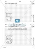 Geometrisches Zeichnen - Verdoppelung der Größe vorgegebener Zahlen bis 5 Preview 6