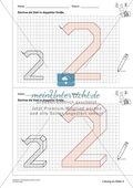 Geometrisches Zeichnen - Verdoppelung der Größe vorgegebener Zahlen bis 5 Preview 9