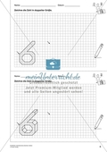 Geometrisches Zeichnen - Verdoppelung der Größe vorgegebener Zahlen bis 10 Preview 1