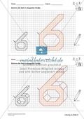 Geometrisches Zeichnen - Verdoppelung der Größe vorgegebener Zahlen bis 10 Preview 6
