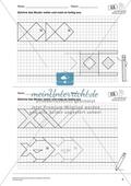 Geometrisches Zeichnen - Weiterzeichnen von Ornamenten Preview 4