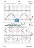 Geometrisches Zeichnen - Weiterzeichnen von Ornamenten Preview 5