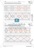 Geometrisches Zeichnen - Weiterzeichnen von Ornamenten Preview 6