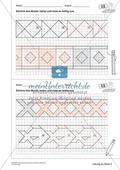 Geometrisches Zeichnen - Weiterzeichnen von Ornamenten Preview 8