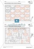 Geometrisches Zeichnen - Weiterzeichnen von Parketten Preview 10