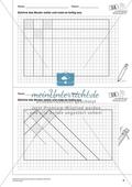 Geometrisches Zeichnen - Weiterzeichnen von Parketten Preview 1