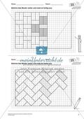 Geometrisches Zeichnen - Weiterzeichnen von Parketten Preview 2