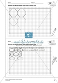 Geometrisches Zeichnen - Weiterzeichnen von Parketten Preview 3