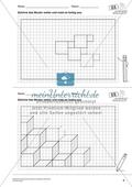 Geometrisches Zeichnen - Weiterzeichnen von Parketten Preview 4