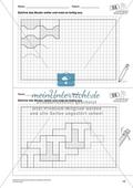 Geometrisches Zeichnen - Weiterzeichnen von Parketten Preview 5