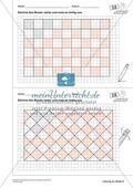Geometrisches Zeichnen - Weiterzeichnen von Parketten Preview 6
