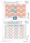 Geometrisches Zeichnen - Weiterzeichnen von Parketten Preview 7
