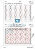 Geometrisches Zeichnen - Weiterzeichnen von Parketten Preview 8