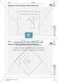 Geometrisches Zeichnen - Ergänzung zu Quadraten Preview 1