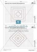 Geometrisches Zeichnen - Ergänzung zu Quadraten Preview 2