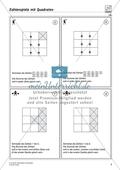 Zahlenspiel mit Quadraten auf mittlerem Anforderungsniveau Preview 1