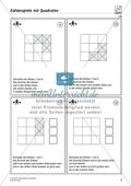 Zahlenspiel mit Quadraten auf mittlerem Anforderungsniveau Preview 2