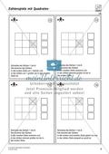 Zahlenspiel mit Quadraten auf mittlerem Anforderungsniveau Preview 3