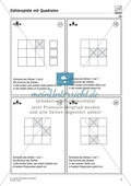 Zahlenspiel mit Quadraten auf mittlerem Anforderungsniveau Preview 4