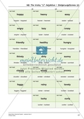 Spielerische Wortschatzübungen auf mittlerem Anforderungsniveau: Veränderung von