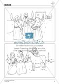 Die Ostergeschichte - Jesus zieht in Jerusalem ein: Geschichte anhand von Erzählbildern nachvollziehen + Bild gestalten Preview 3