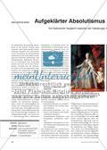 Aufgeklärter Absolutismus im östlichen Europa: Ein historischer Vergleich zwischen der Habsburgermonarchie und dem Russischem Reich Preview 1