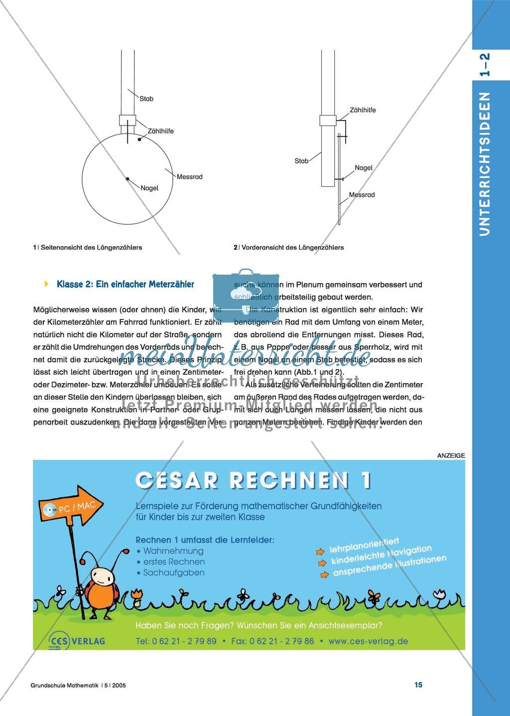 Der Längenzähler: Kinder entwickeln Ideen, um ein einfaches Messrad ...