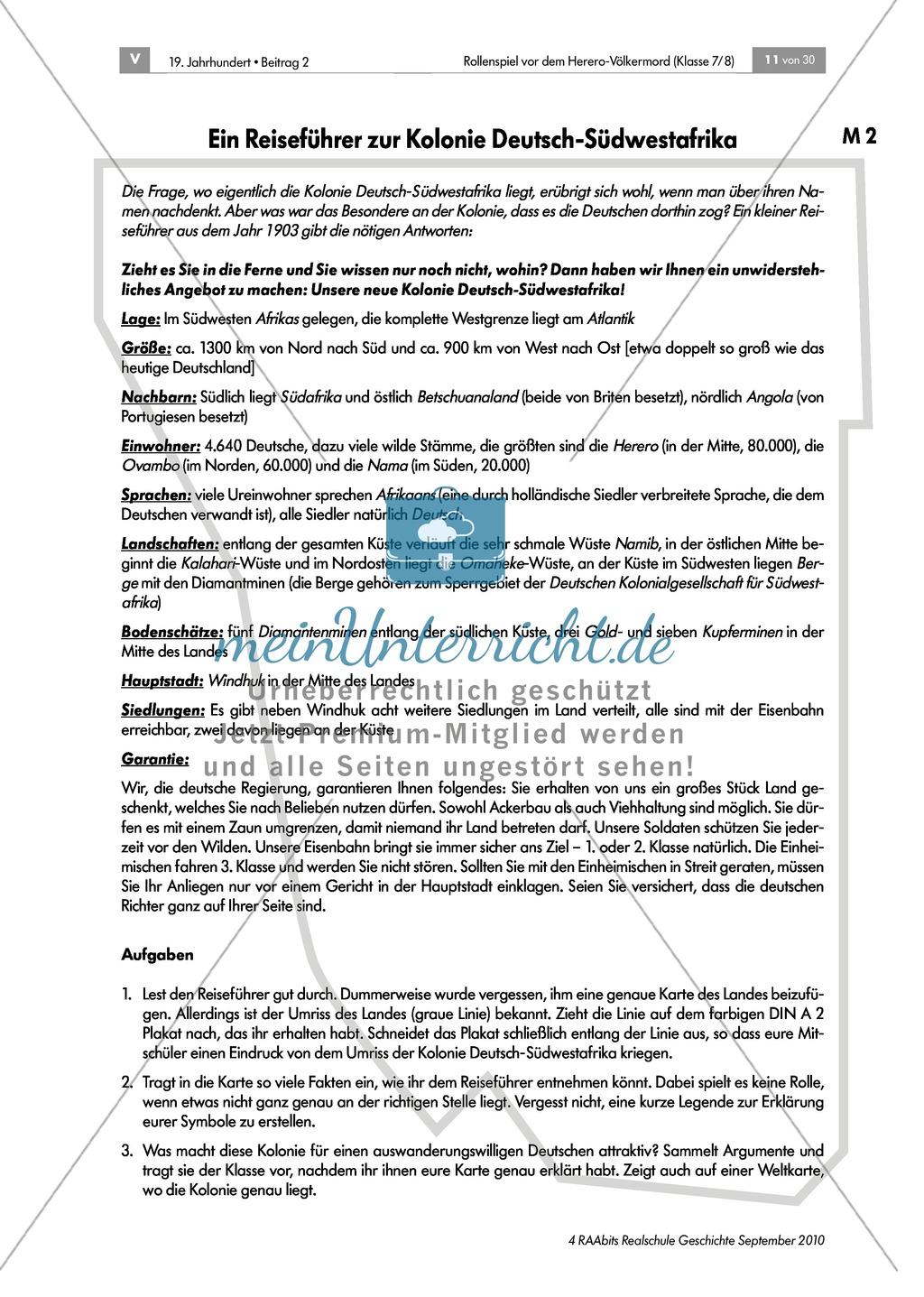 Deutsche Kolonialherren und afrikanische Ureinwohner: Die Geschichte der Kolonie Deutsch-Südwestafrika in Gruppen erarbeiten und als Puzzle zusammensetzen und präsentieren Preview 1