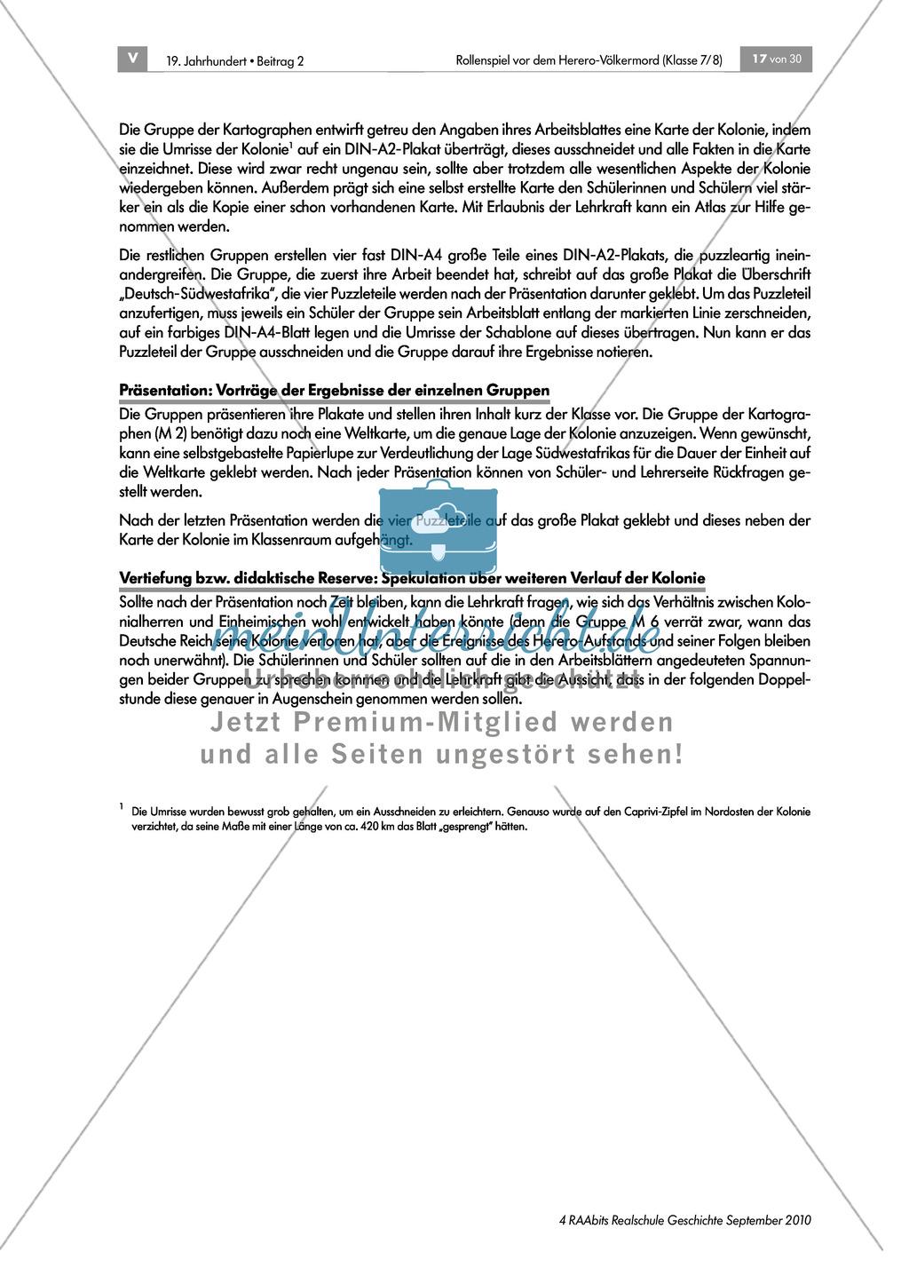 Deutsche Kolonialherren und afrikanische Ureinwohner: Die Geschichte der Kolonie Deutsch-Südwestafrika in Gruppen erarbeiten und als Puzzle zusammensetzen und präsentieren Preview 7
