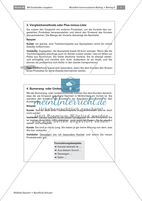 Mit Einwänden umgehen können: Methoden der Einwandbehandlung kennen und einsetzen Preview 2