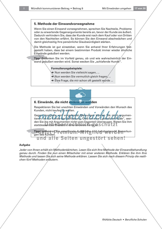 Mit Einwänden umgehen können: Methoden der Einwandbehandlung kennen und einsetzen Preview 3