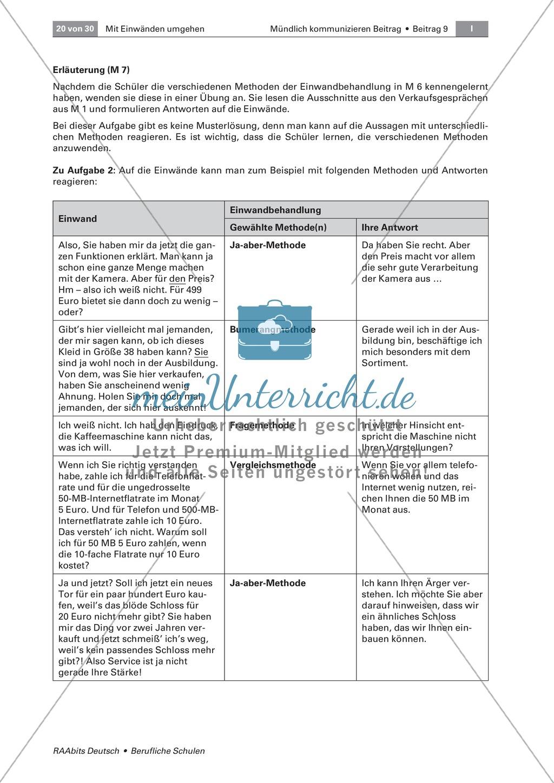 Mit Einwänden umgehen können: Methoden der Einwandbehandlung kennen und einsetzen Preview 6