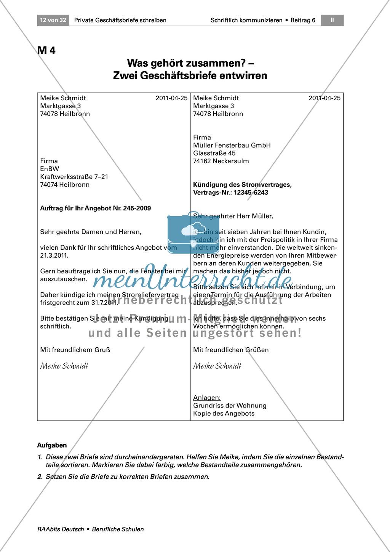 Private Geschäftsbriefe schreiben: Anlässe + Aufbau Preview 6