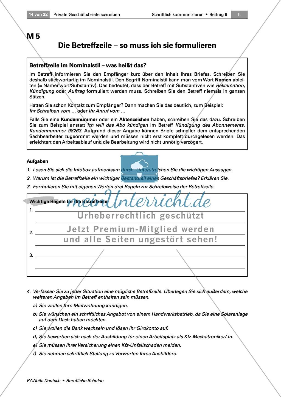 Private Geschäftsbriefe schreiben: Ziele formulieren + guter Stil Preview 0