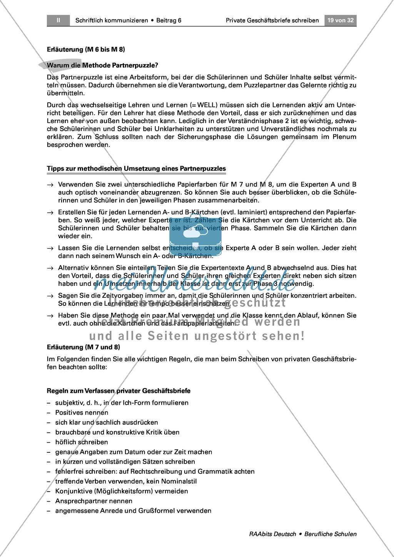 Private Geschäftsbriefe schreiben: Ziele formulieren + guter Stil Preview 5